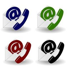 Contact us icon vector