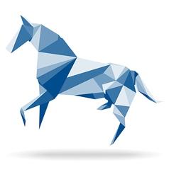 Horse polygon vector