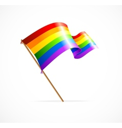 A rainbow flag waving vector