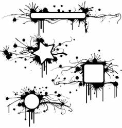 Stained grunge frames vector