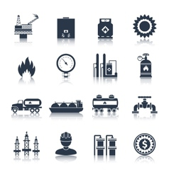 Gas icons black vector