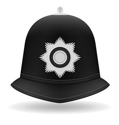 London police helmet vector