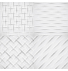 White relief pattern set vector