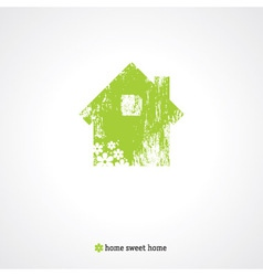 Old green home vector