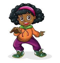 A black hiphop dancer vector