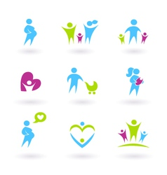 Pregnancy family vector