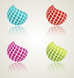 Abstract color icons vector