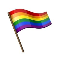 Rainbow curl flag icon vector