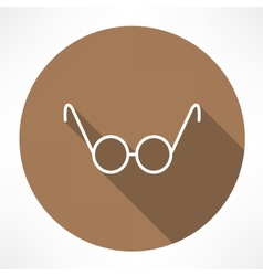 Round glasses icon vector