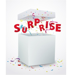 Surprise message box with confetti vector