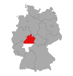 Map of germany with flag of hesse vector
