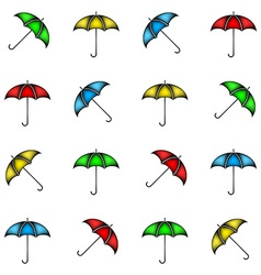 Seamless pattern of colorful umbrellas background vector