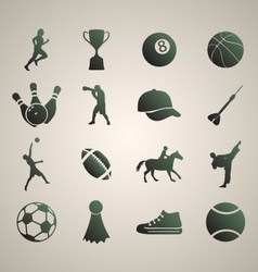 Sports silhouettes set 1 vector