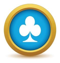 Gold card icon vector