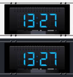 Electronic clock with dial vector
