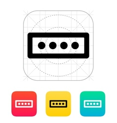 Password form icon vector