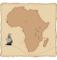 Stylised old africa map vector