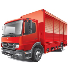 Red delivery truck vector