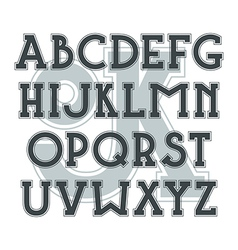 Bold serif font in classic style vector