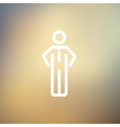 Man standing thin line icon vector