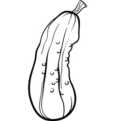 Cucumber vegetable cartoon for coloring book vector