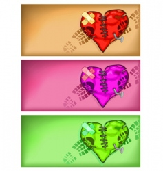 Broken heart background vector