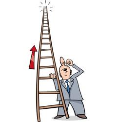 Ladder of success cartoon vector