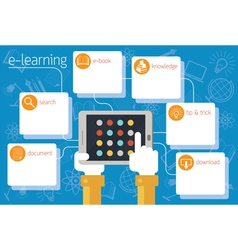 School online e-learning infographic vector