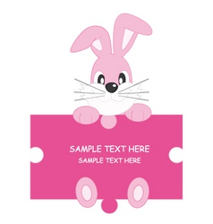 Rabbit pink vector