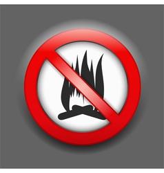 No fire sign vector