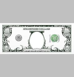 Hundred dollars bill experimental design vector