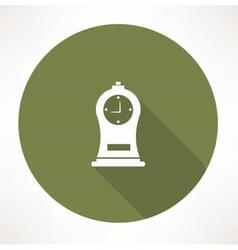 Antique clock icon vector