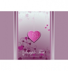Heart bracket and curls on a violet background vector