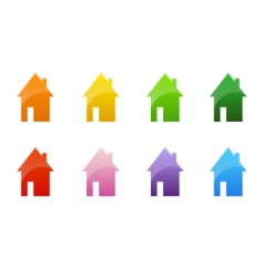 Coloured cottages vector