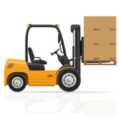 Forklift truck 04 vector