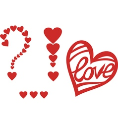 Signs of love heart valentines day design element vector