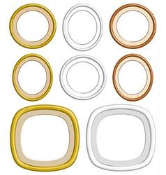 3d circle frame vector