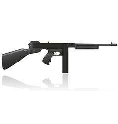Gangster gun thompson 02 vector