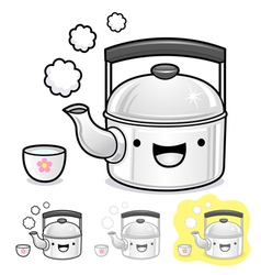 Diverse styles of kettle and teakettle sets vector