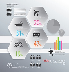Infographic transportion background vector