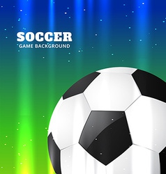 Football design in shiny background vector