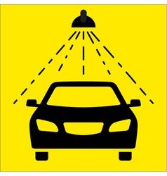 Car wash signboard vector