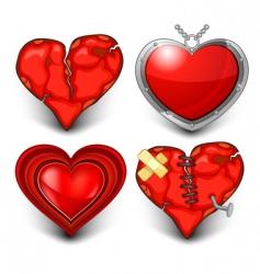 Four heart vector