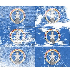 Flag of mariana islands with old texture vector