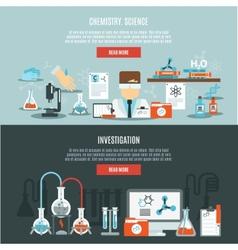 Chemistry banner set vector