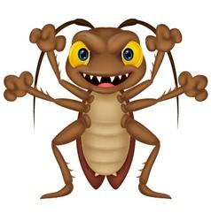 Scary cockroach cartoon vector