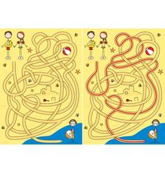 Summer maze vector