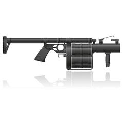 Grenade gun 01 vector