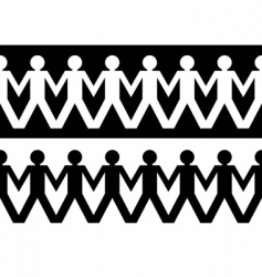 Paper chain men vector