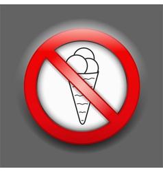 No ice cream sign vector